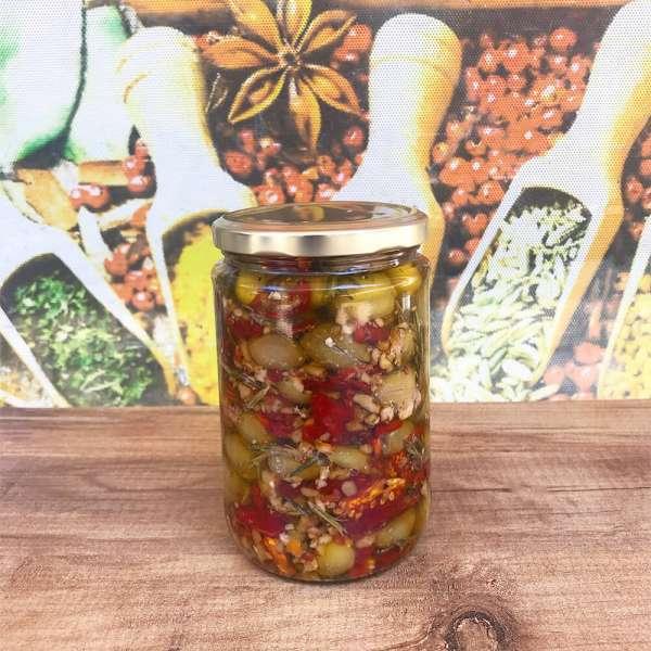 Cevizli Yeşil Zeytin Salatası 650 Gr