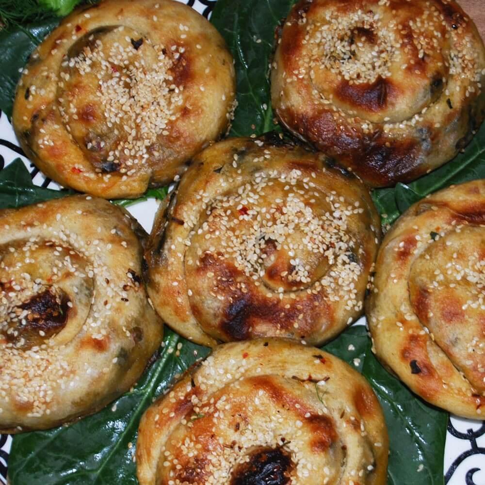 Ispanaklı Külçe ( Gül Böreği ) - 10 Adet