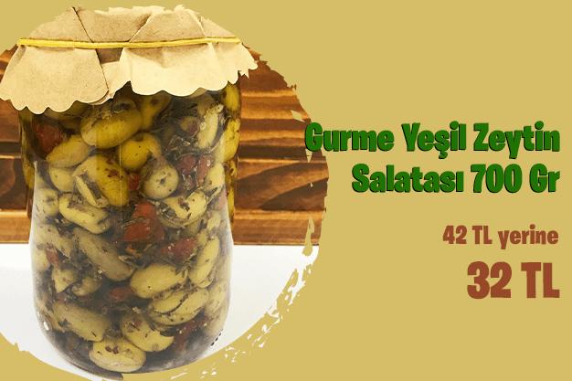 Gurme Yeşil Zeytin Salatası