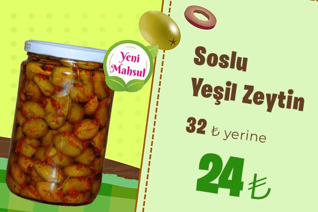 Kahvaltının Başköşesinde Soslu Yeşil Zeytin